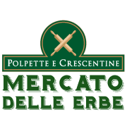 Logo di polpette e crescente al mercato