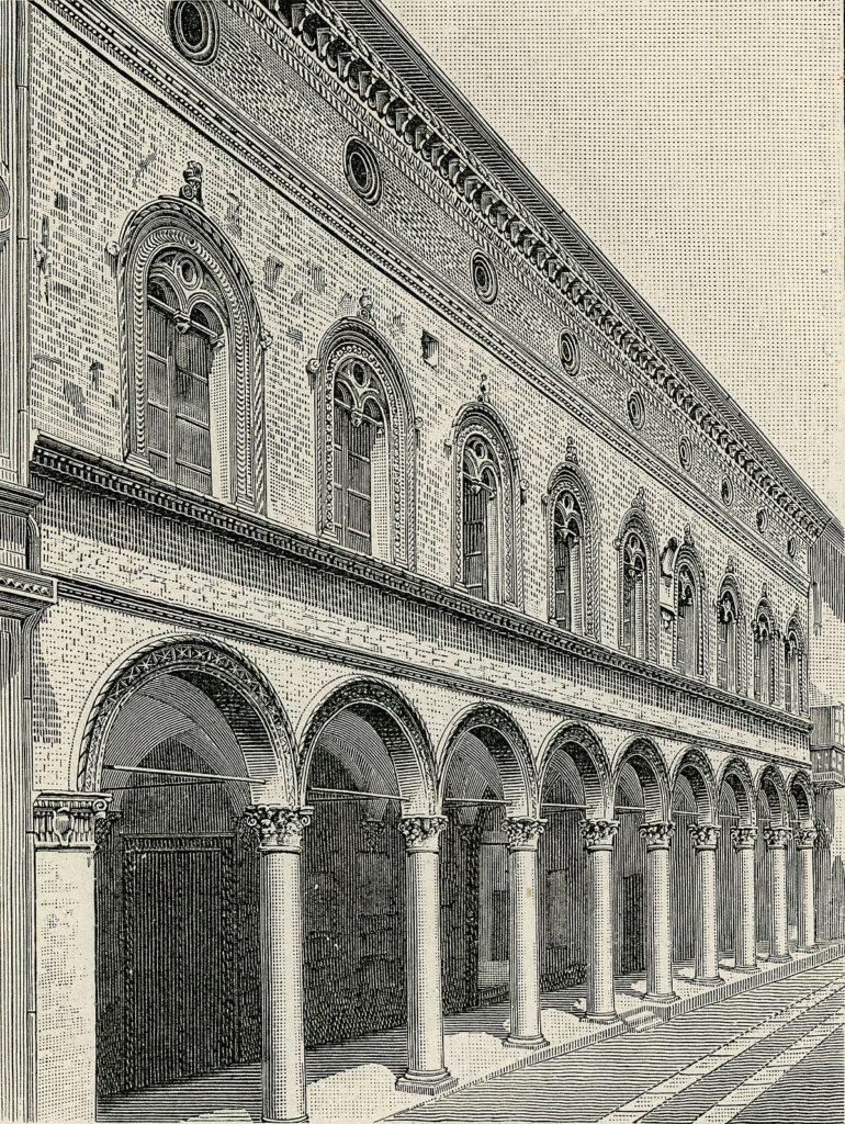 vecchia foto facciata palazzo pallavicini